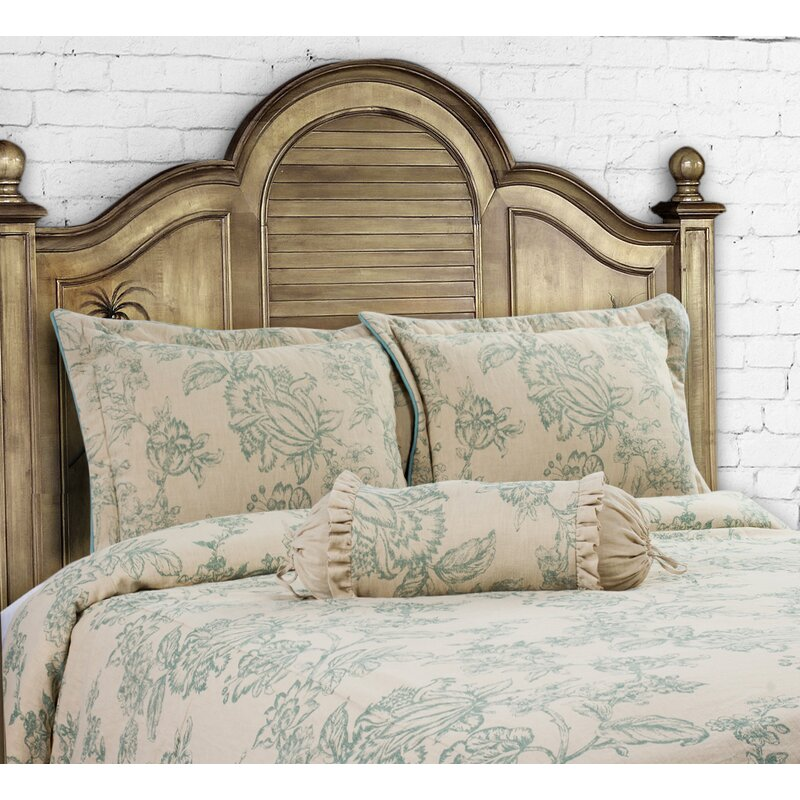 14 Karat Home Inc. French Country 3 Piece Duvet Cover Set Size: King, Color: Harbor