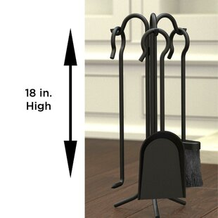 4 Piece Steel Fireplace Tool By Symple Stuff