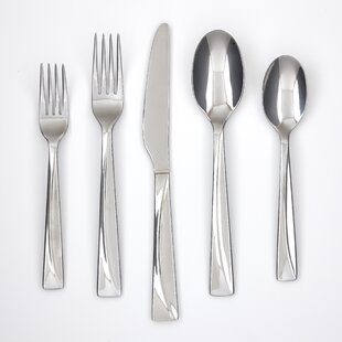Silvanna Mirror 45 Piece Flatware Set, Service for 8