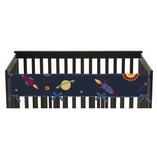 Price comparison Space Galaxy Long Crib Rail Guard Cover By Sweet Jojo Designs