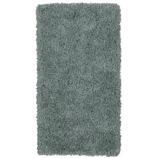 Costantino Fuzzy High Pile Sage Green Area Rug by Wrought Studio