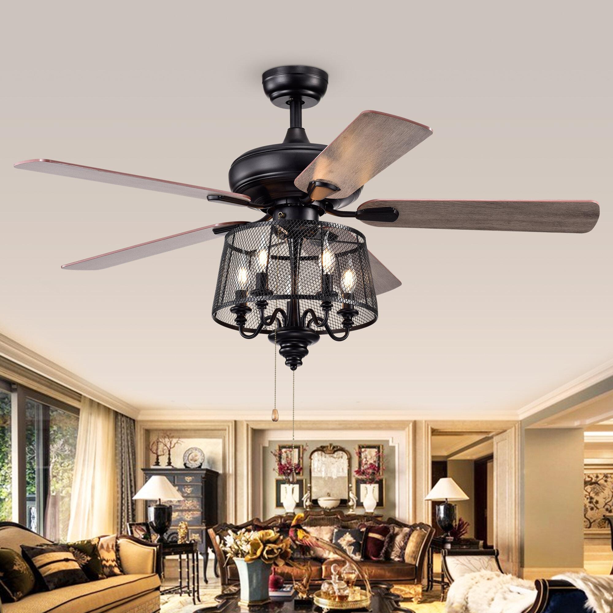 Gracie Oaks Croteau 5 Blade Ceiling Fan