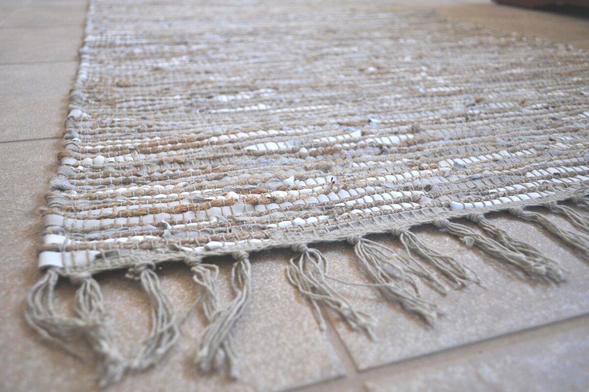 Matador Hand Woven Cotton White Area Rug