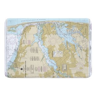 Hopp Navesink And Shrewsbury Rivers, Redbank, Rumson Neck, NJ Nautical Chart Memory Foam Bath Rug by Breakwater Bay Herry Up