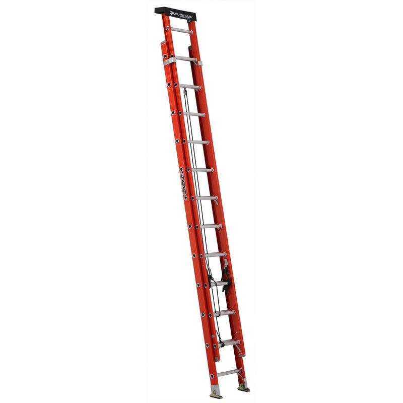Louisville Ladder 24 Ft Fiberglass Extension Ladder Type Ia 300 Lb Load Capacity L 3022 24pt Wayfair