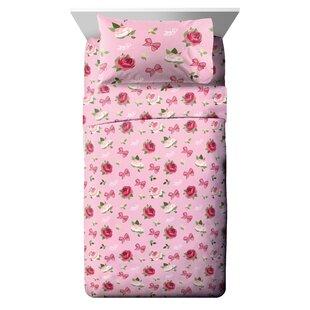 Nickelodeon Jojo Siwa Roses and Bows Reversible Comforter Set