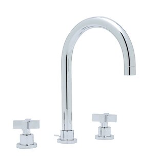 Rohl Modern Widespread Bathroom Faucet with Cross Handle