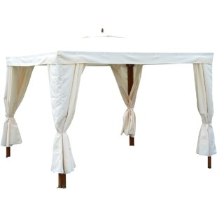 Grover 10 Ft. W x 10 Ft. D Solid Wood Patio Gazebo by Safavieh