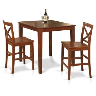 3 Piece Counter Height Dining Set East West Furniture
