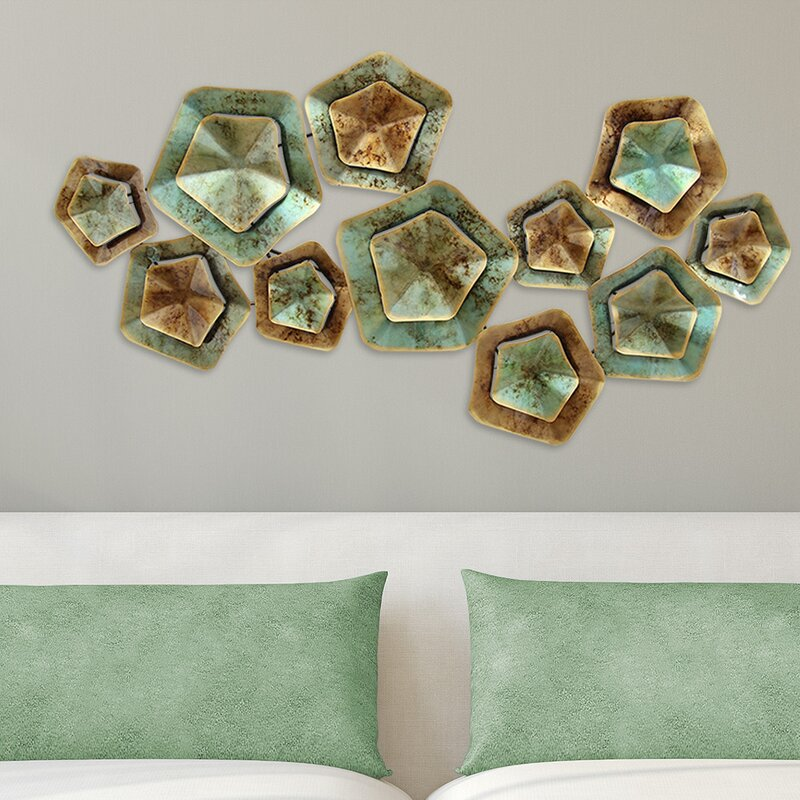 Stratton Home Decor Layered Large Metal Wall Décor | Wayfair