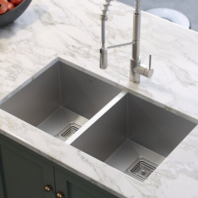 Kraus Khu Double Basin Undermount Kitchen Sink Sinks