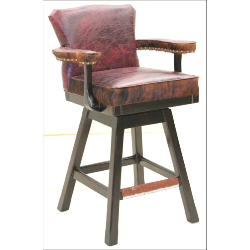 Old Hickory Tannery 30 Quot Swivel Bar Stool Perigold