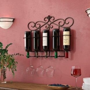 Fleur De Lis Living Whitcher 5 Bottle Wall Mounted Wine Rack