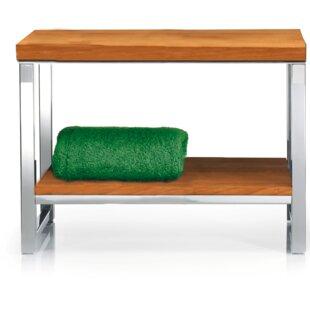 Orren Ellis Simmerman Wood Storage Bench