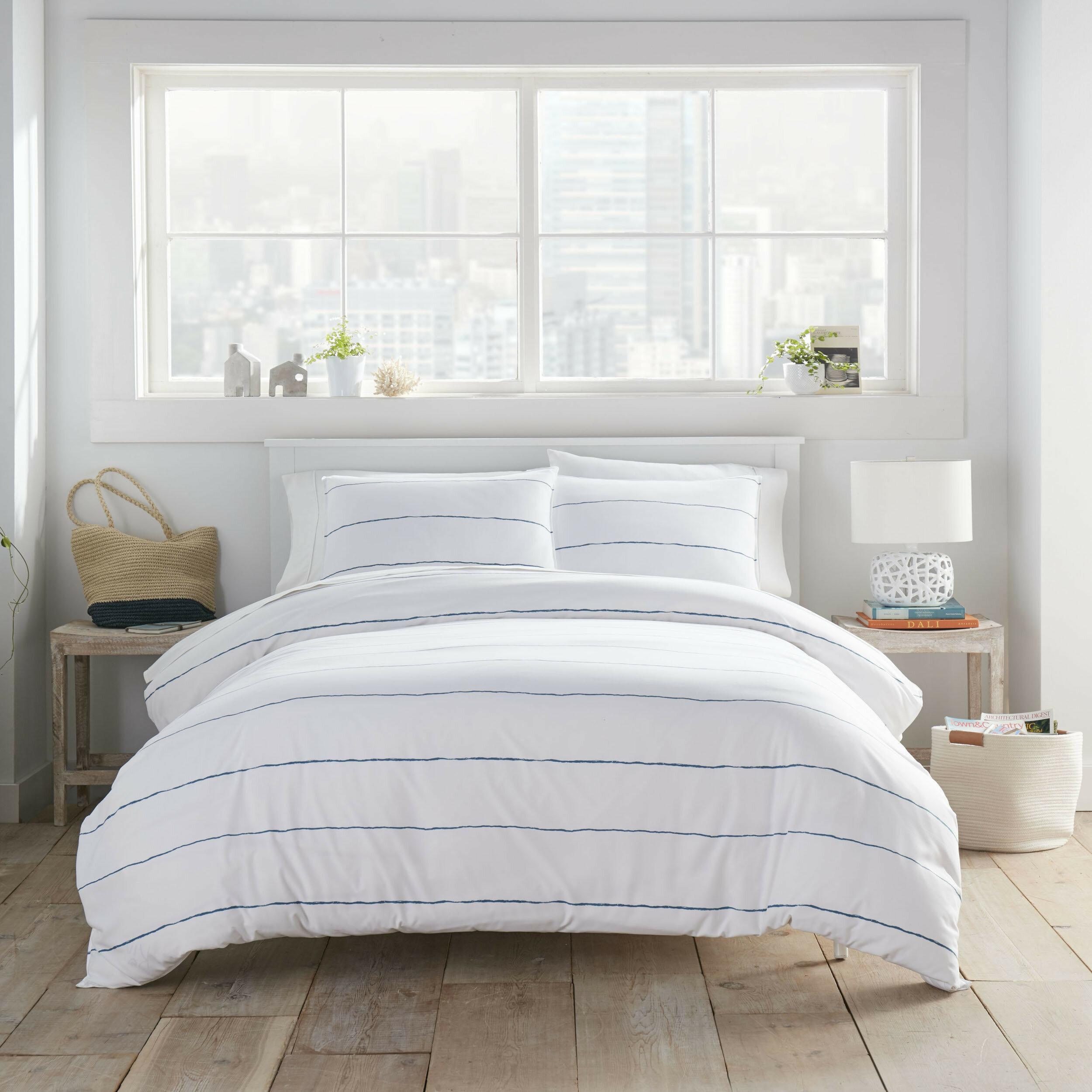 City Scene Tideline Navy Twin Comforter Set Reviews Wayfair