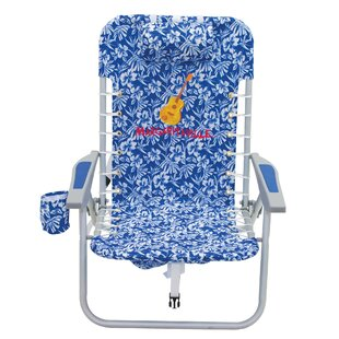 Margaritaville 4-Position Lace-Up Backpack Reclining Beach Chair by Rio Brands