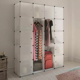 Attaway 146cm Wide Clothes Storage System By Bloomsbury Market
