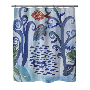 Highland Dunes Burkart Fancy Fish Reef Shower Curtain