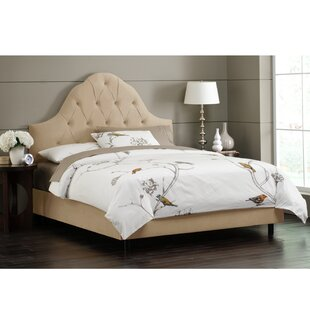Socorro Upholstered Panel Bed by World Menagerie
