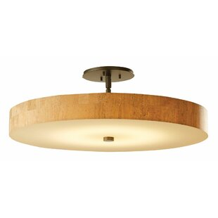 Disq 1-Light Semi Flush Mount ..
