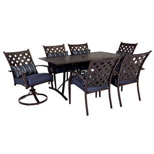 Breakwater Bay Granier 7 Pieces Dining Set with Cushions