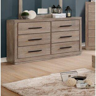 Gracie Oaks Mcmillen 6 Drawer Double Dresser