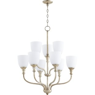 Falbo 9-Light Shaded Chandelier by Charlton Home