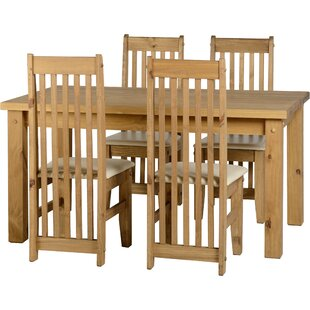 Agade Dining Set With 4 Chairs By Home & Haus