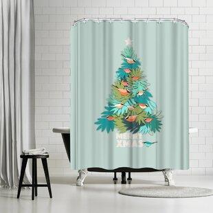 East Urban Home Susana Paz Tropical Xmas Shower Curtain