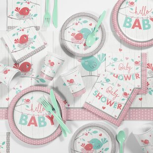 Hello Baby Paper/Plastic Party Supplies Kit
