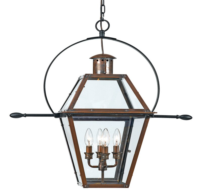 Laurel foundry modern farmhouse lois 4 light outdoor hanging lois 4 light outdoor hanging lantern mozeypictures Images