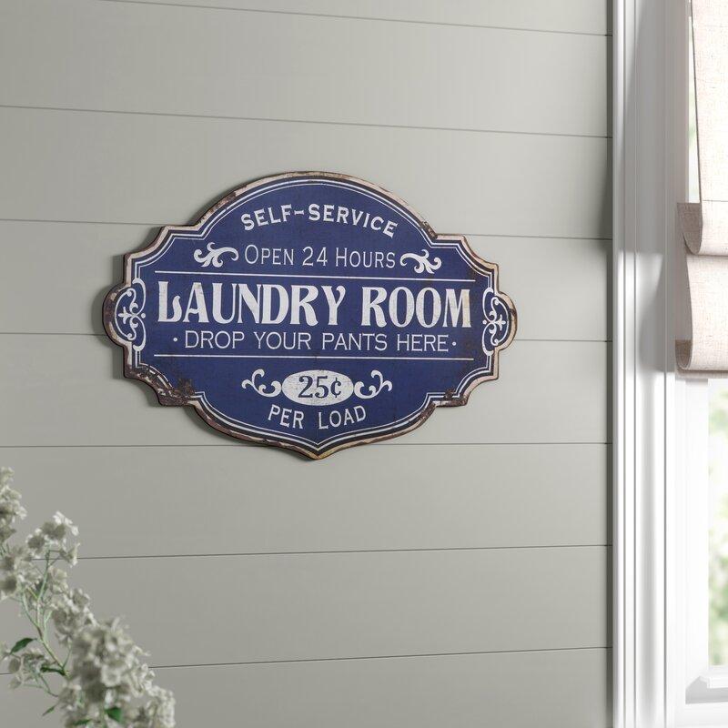 Birch Lane Metal Laundry Room Wall Decor Reviews Wayfair