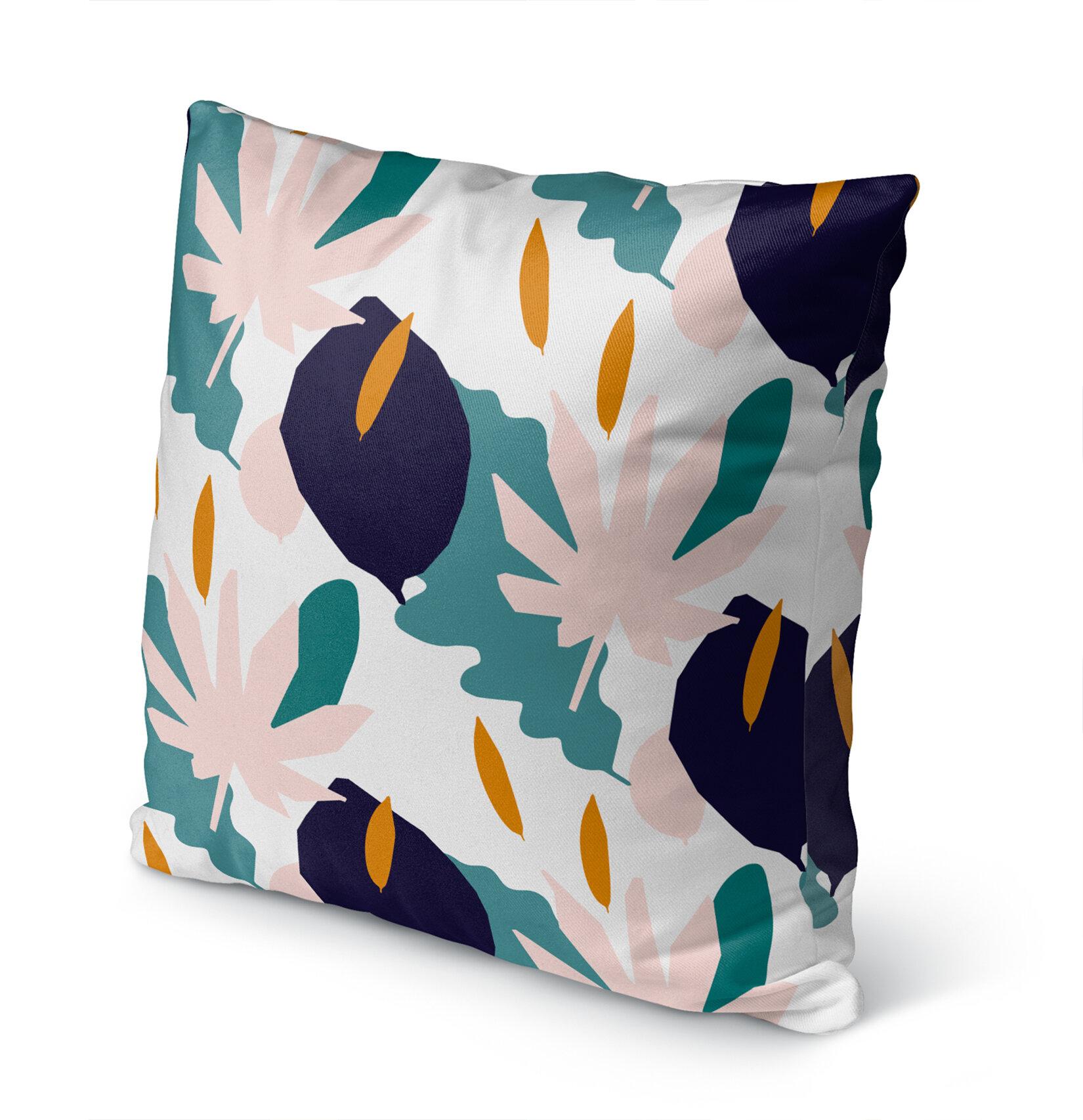 Bayou Breeze Cristina Cotton Indoor Outdoor Floral Pillow Wayfair