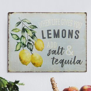 Keep It Simple /& When Life Gives You Lemons Home Decor Galvenized Print Plaques