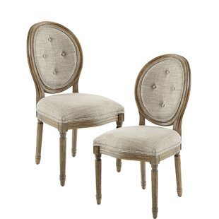 Purchase Brandi Upholstered Dining Chair (Set of 2) by Ophelia & Co. Reviews (2019) & Buyer's Guide