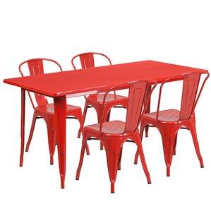Corrado 5 Piece Dining Set
