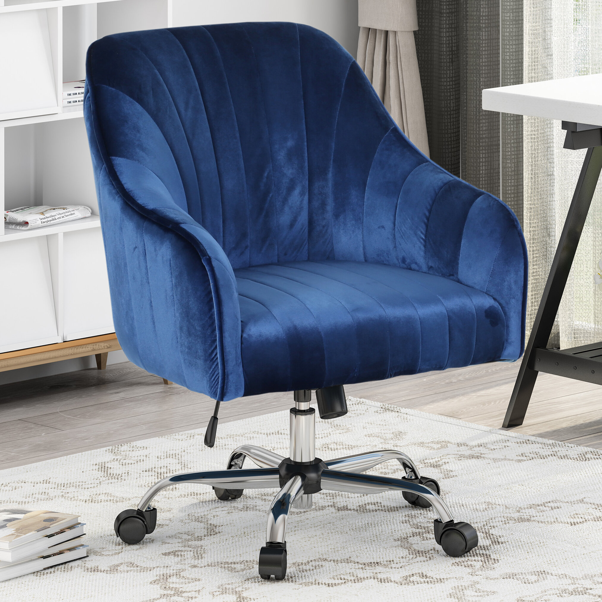 Everly Quinn Pineland Glam Velvet Task Chair Reviews Wayfair