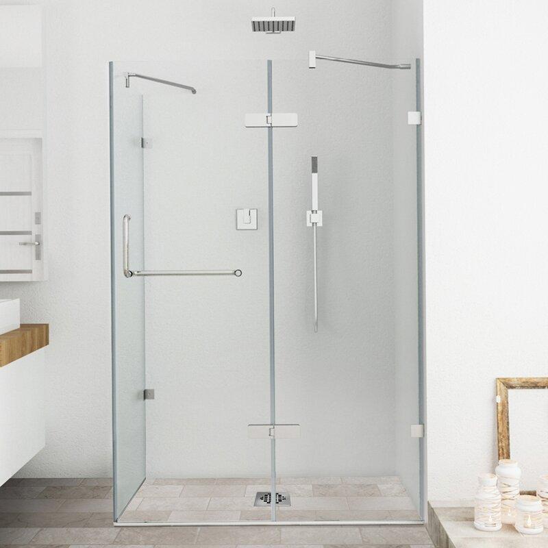 Frameless Shower Enclosure with .375-in. & VIGO Monteray 32 x 48-in. Frameless Shower Enclosure with .375-in ... pezcame.com