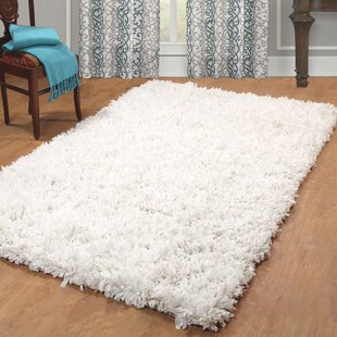 Compare prices Peggy Hand Woven White Shag Area Rug By Zipcode Design