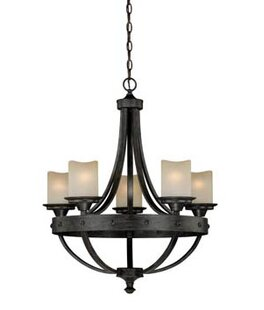 Laurel Foundry Modern Farmhouse Galyon Candle-Style Chandelier