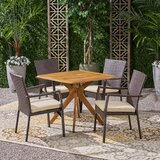 Jolien 5 Piece Dining Set with Cushions