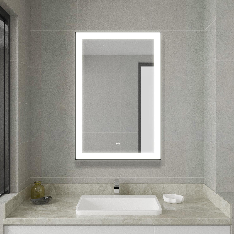 Orren Ellis Wetumpka Modern Lighted Bathroom Mirror Wayfair