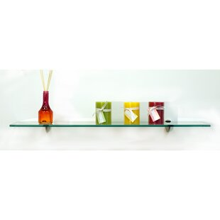 Floating Glass Shelves Starling Wall Shelf by Spancraft Glass