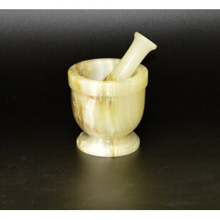 Traditional Mortar and Pestle Set By Designs by Marble Crafters