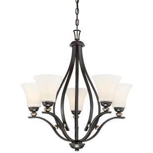 Alcott Hill Stockton 5-Light Shaded Chandelier
