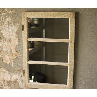 August Grove Gatlin Wooden Cabinet Door Accent Mirror