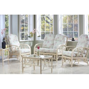 Review Freese 5 Piece Conservatory Sofa Set