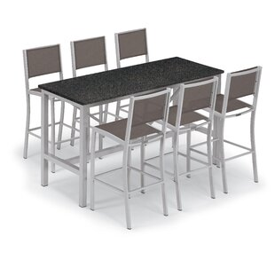 Oxford Garden Travira 7 Piece Bar Height Dining Set