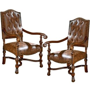 Design Toscano Villandry Spanish Revival Armchair (Set of 2)