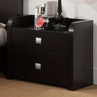 Great Price Disanto Beautiful 2 Drawer Nightstand by Latitude Run